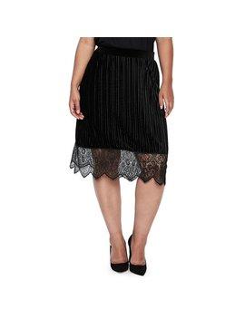 Plus 518 Rumba Midi Velvet Skirt by Junarose