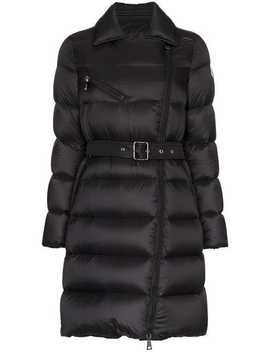 Gelinotte Belted Feather Down And Virgin Wool Coat by Moncler