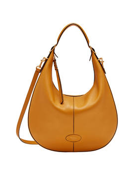 Mulberry Small Selby Classic Grain Leather Hobo Bag, Deep Amber by Mulberry