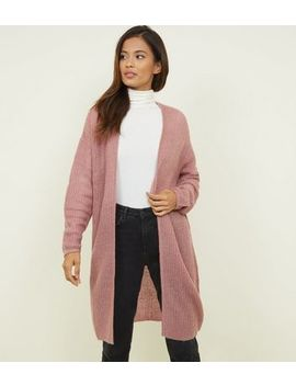 Jdy Mid Pink Loose Knit Longline Cardigan by New Look
