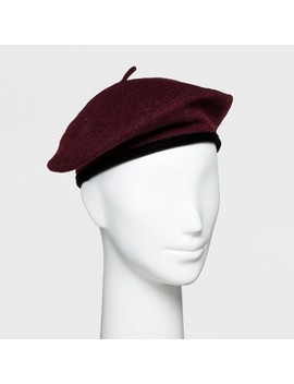 Women's Wool Velvet Trim Beret   A New Day™ by A New Day™