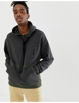 Asos Design Oversized Hoodie With Utility Details by Asos Design