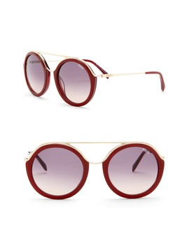 52mm Metal Sunglasses by Emilio Pucci