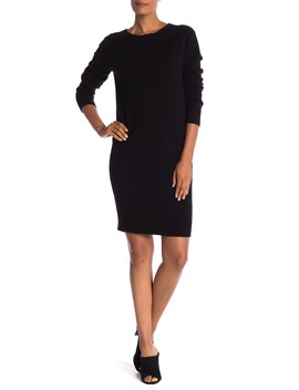 Long Sleeve Ribbed Knit Dress by Vince
