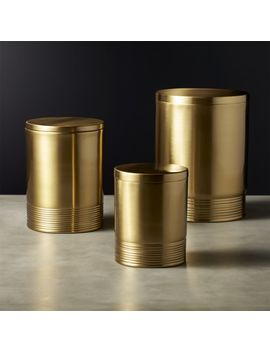 Bulletproof Gold Canisters by Crate&Barrel