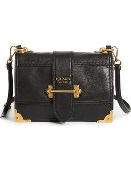 Cahier Calfskin Convertible Shoulder Bag by Prada