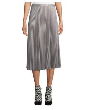 Annina Accordion Pleated Midi Skirt by Neiman Marcus