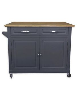 No Tools Kitchen Island In Grey by Bed Bath & Beyond