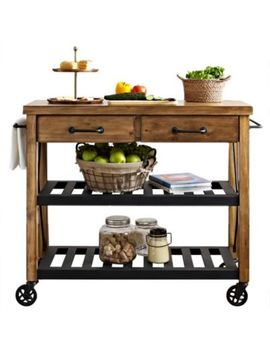 Crosley Roots Rolling Rack Industrial Kitchen Cart by Bed Bath & Beyond