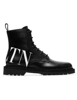 Valentino Garavani Vltn Combat Boots by Valentino