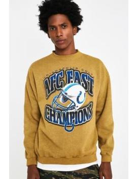 Urban Renewal Vintage Customised Marigold Overdyed Sports Sweatshirt by Urban Renewal Vintage