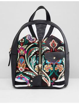 Oh My Gosh Accessories Embroidered Backpack by Backpack