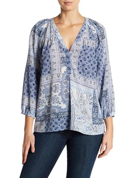 Sonoma Pattern Silk Blouse by Joie