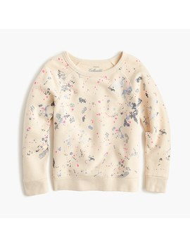 Girls' Splatter Paint Sweatshirt by J.Crew