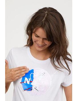T Shirt Z Odwracanymi Cekinami by H&M