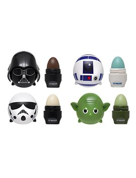 Lip Smacker Disney Tsum Tsum Lip Balm, Star Wars Yoda/Darth Vader/R2 D2/Storm Trooper, 4 Count by Lip Smacker
