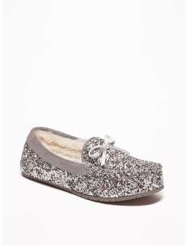 Glitter Sherpa Lined Moccasins For Girls by Old Navy