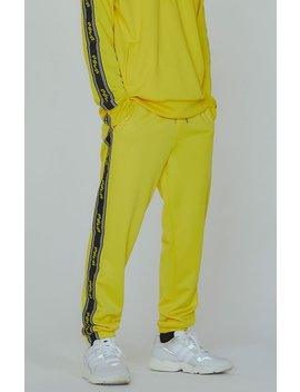 Pac Sun Editor's Choice Yellow Side Stripe Track Pants by Pacsun