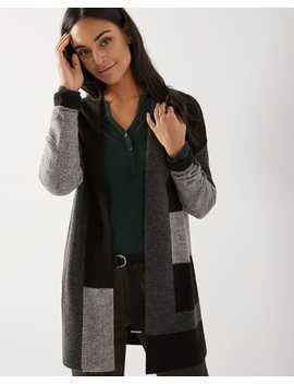 C&G Patchwork Open Front Cardigan by Rw & Co