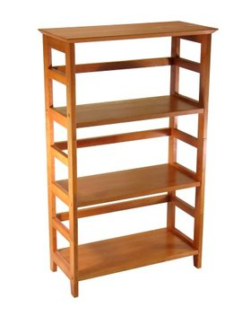 Winsome Wood 4 Tier Bookshelf, Honey by Winsome Wood