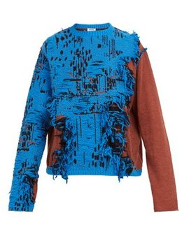Distressed Cotton Blend Sweater by Acne Studios