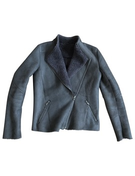 Leather Biker Jacket by Gerard Darel