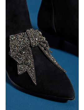 Farylrobin Alvis Bow Embellished Ankle Boots by Farylrobin