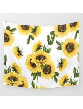 Lovely Sunflower Wall Tapestry by