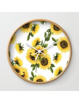 Lovely Sunflower Wall Clock by