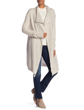 Waterfall Drape Collar Long Sleeve Cardigan by Solutions