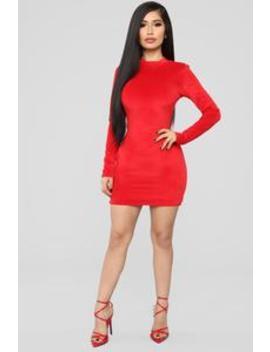 Smooth Moves Velvet Dress   Red by Fashion Nova