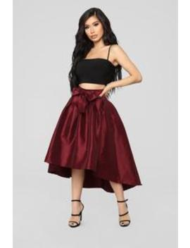 Hold Onto Me Skirt   Wine by Fashion Nova