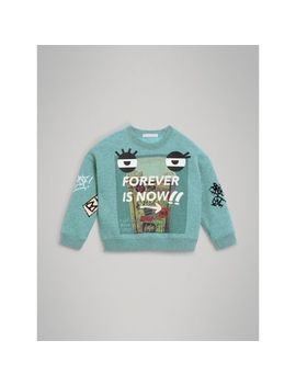 Forever Is Now Print Cotton Sweatshirt by Burberry