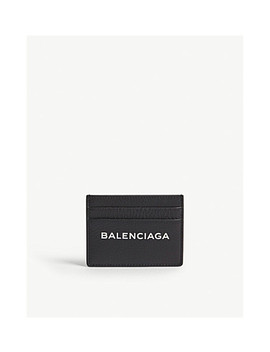 Logo Grained Leather Card Holder by Balenciaga