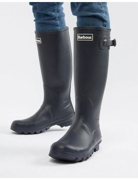 Barbour Bede Wellington Boots In Navy by Barbour