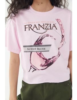 Franzia Sunset Blush Cropped Tee by Urban Outfitters