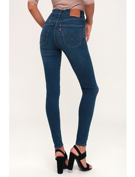 Mile High Super Skinny Dark Blue Jeans by Levi's