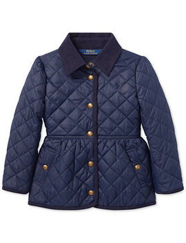 Little Girls Quilted Barn Jacket by Polo Ralph Lauren