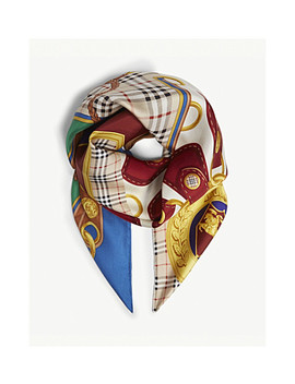 Archive Key Patchwork Silk Scarf by Burberry
