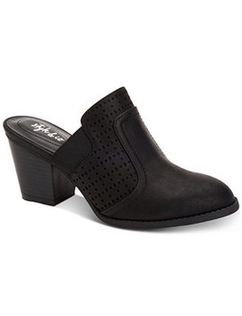 Women's Joelynn Perforated Mules, Created For Macy's by Style & Co