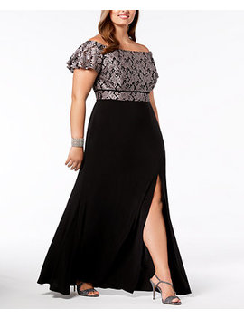 Plus Size Off The Shoulder Gown by Nightway