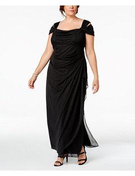 Plus Size Draped Cold Shoulder Dress by Alex Evenings