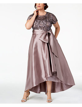 Plus Size High Low Gown by R & M Richards