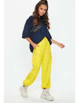 Yellow Combat Drawcord Trousers by Missguided