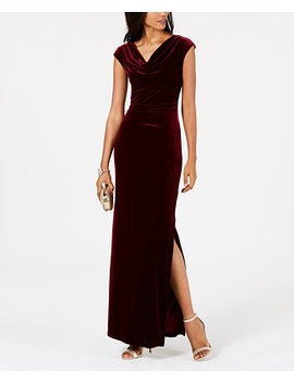 Velvet Cutout Back Gown by Vince Camuto