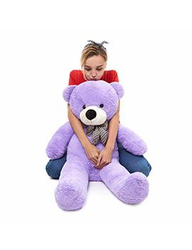 Moris Mos Giant Teddy Bear Big Stuffed Animals Teddy Bear Soft Plush Cuddly Toy Gift For Girlfriend Birthday Christmas Valentine'day (Pink, 47 Inches) by Moris Mos
