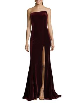 Strapless Velvet Gown by Xscape