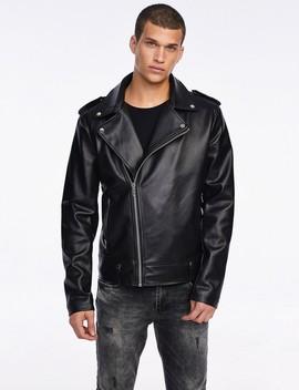 Leather Look Biker Jacket by Castro