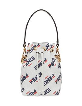 X Fila Mon Tresor Mania Logo Bucket Bag by Fendi