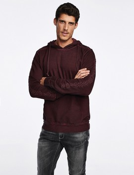 Sweater With Embroidered Sleeves by Castro